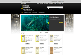 Screen capture of National Geographic front page.